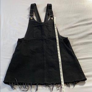 ZARA Black Denim Shortalls